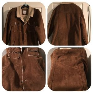 Men's Old Navy Faux Brown Shearling Coat